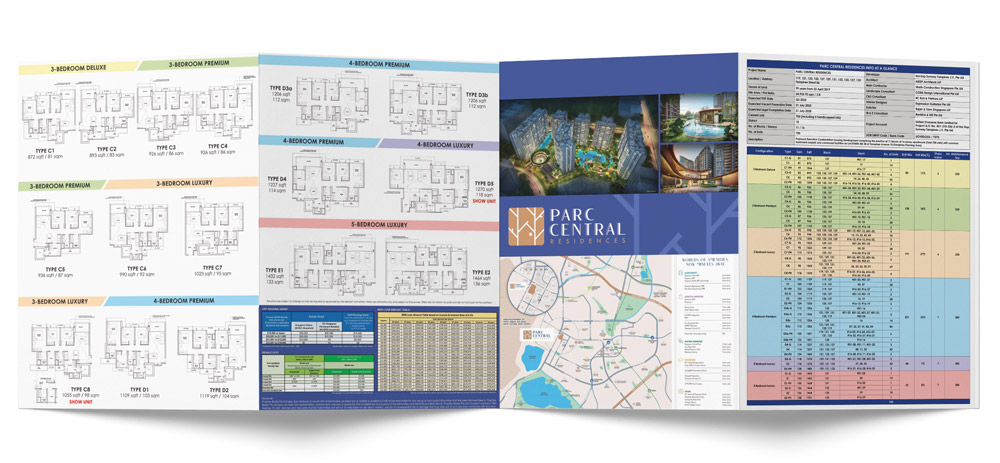 Parc Central Residences 4 Fold Brochure